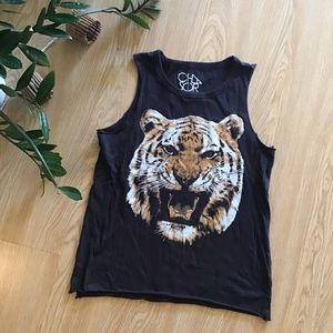 Chaser tiger king graphic muscle tee
